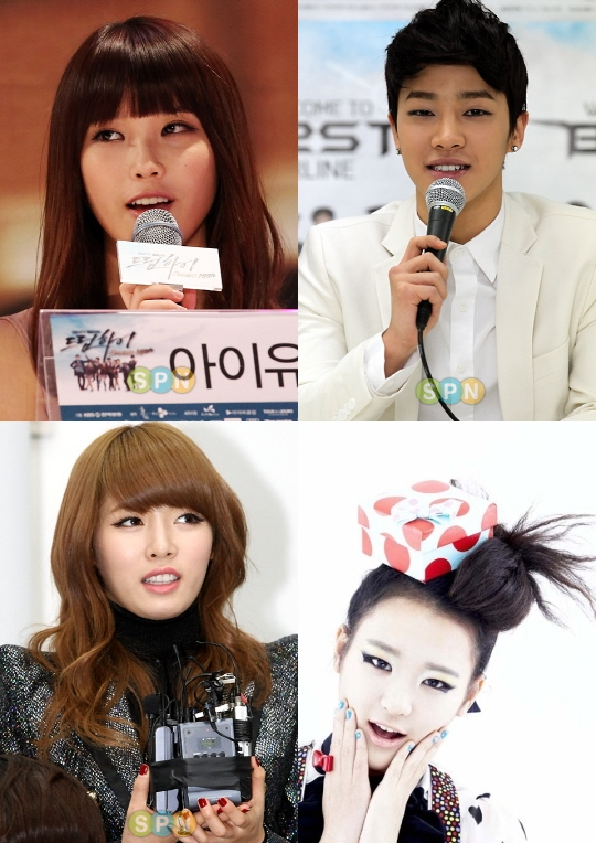 [News] Former JYP trainees IU-Kikwang-Hyuna-Eunkyo ...