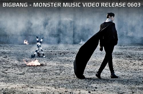 big bang新辑 monster t.o.p预告照公开,穿黑色披风帅气登高清图片